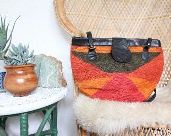 woven market bag / vintage