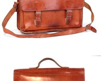 Messenger bag leather school bag 16