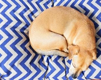 Designer Dog Bed - Floor Pillow - Pet Bed Dog Bed - Dog Bed Pillow - Dog Bed Cover - Modern Dog Bed - Blue Dog Bed -Floor Pillow Cover