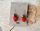 Heart and Pyrite Earrings