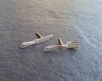 Cubertería,cutlery, earring, pendientes, silver, jewelry, plata, pendientes de plata