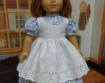 18 inch American Girl Doll Clothes Addy Kirsten Prairie Pinafore and Dress
