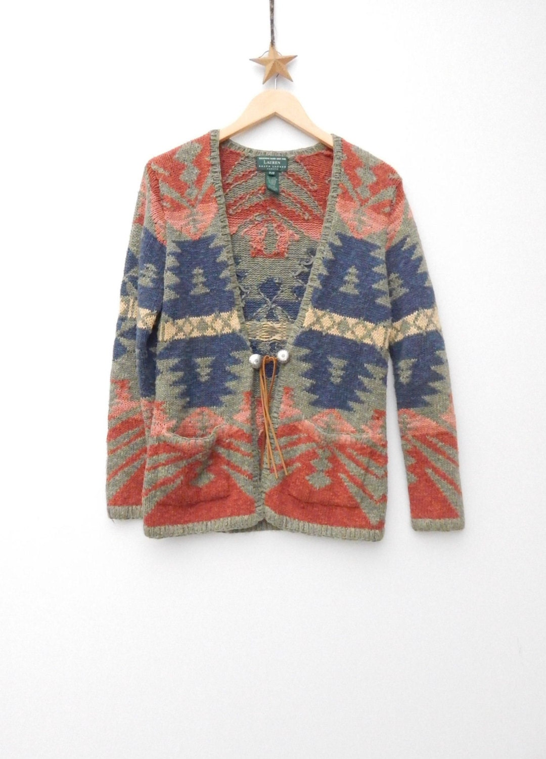 Ralph Lauren ......Hand Knit Southwestern Navajo Indian