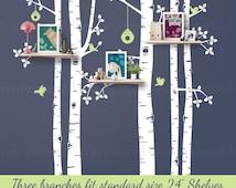 Birch Tree Wall Decal | Shelving Tree | Tree Wall Decals for Nursery | Birch Shelving Tree | Easy Application 147