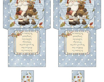Printable Digital Friends Tea Wrapper, Tea Envelope