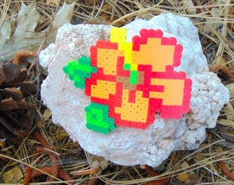 8bit Hawaiian Flower Hair Clip