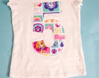 Paw Patrol Birthday Shirt, Girls Paw Patrol, Paw Patrol Birthday, Girls Paw Patrol Birthday Shirt, Birthday Shirt, Paw Patrol Shirt