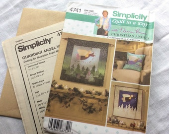 Simplicity 4741 guardian angel wallhanging tooth fairypillow uncut pattern
