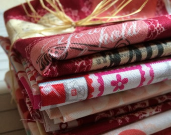 Valentine's Mixed Fat Quarter fabric Bundle