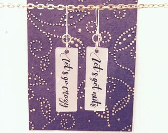 Prince Jewelry // Let's Go Crazy Earrings // Prince Earrings // Prince Lyrics // Music Jewelry // Lyrics Earrings // Purple Rain