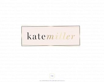 Premade Logo - Gold & Blush modern logo - Photography Logo - Wedding Photography - Small Business - Boutique - Logo Design
