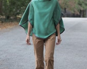 Emerald Green Silk Top. S...