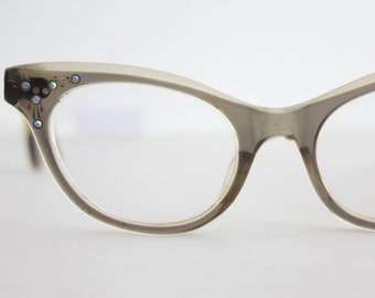 Vintage 50's Cat Eye Eyeglasses, Damaged, See Description