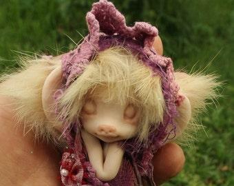 sweet  ooak cocoon  tiny fairy fairie mouse
