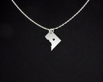 Washington DC Necklace - Washington DC Jewelry - Washington DC Gift