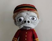 Twilight Zone Tower of Terror Doll ToT Bellhop Inspired Felt Doll Hollywood Tower Hotel