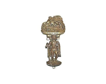 King Arthur Door Knocker, with Camelot too, Vintage and Fine for Arthurian Addicts, from Cornwall