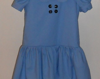 Lucy Costume - Made to order - girls dress up - girls costume - blue cotton dress - Kids Costume - Lucy Van Pelt - Peanuts