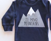 I'll Move Mountains Baby Bodysuit, Snowboarding Baby, Mountain Bodysuit, Baby Mountain Shirt, Colorado Baby, Mountain Baby, Adventure Baby