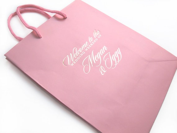 Wedding Welcome Gift: Welcome To The Wedding Bags Personalized Hotel Guest Bag