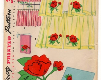 1950's Simplicity Cafe Curtain and Valance Pattern - UC/FF - No. 4919