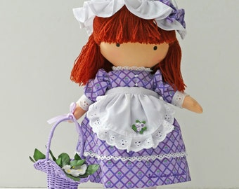 """Rare Joan Walsh Anglund """"Blackberry"""" Cloth Doll from the Berry Patch Collection"""