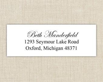 Return Address Labels. Return address label sticker.