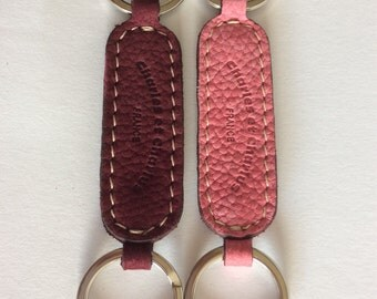 Vintage Charles et Charlus leather key chain