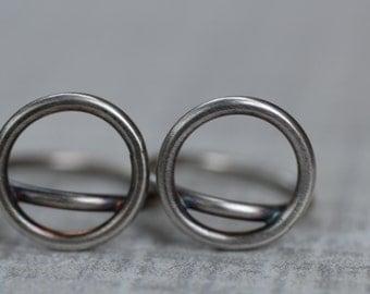 Circle Ring, Silver Stacking Ring