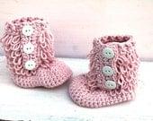 Crochet Baby Boots, Baby Girl, Baby Uggs