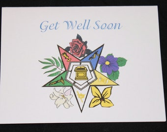 Get Well Blank note cards