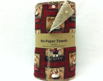 Unpaper towels, reusable paper towels, cloth paper towels, snapping paper towels -  Chefs