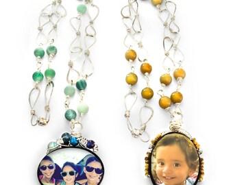 Custom Photo Beaded Necklace
