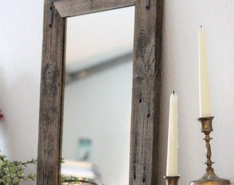 Rustic Wall Mirror Large 30 X 36 Vanity
