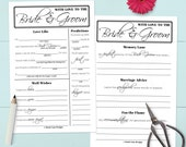 Printable Wedding Guest Book Alternative - Advice, Well Wishes, & Predictions [#217]