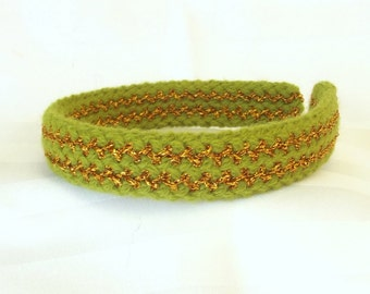 Green Knit Headband - Vintage Style Hair Accessory - Retro Style Headband - Hair Accessory for Her