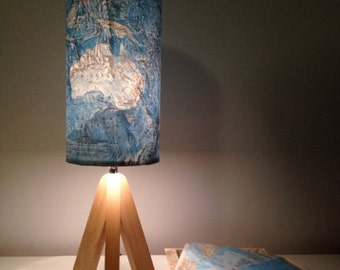 Custom handmade map lampshades, unique to give as gifts or keep for yourself...