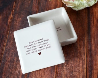 Grandmother Wedding Gift - SHIPS FAST - Grandmothers have ears that truly listen, arms that always hold ... -  Keepsake Box
