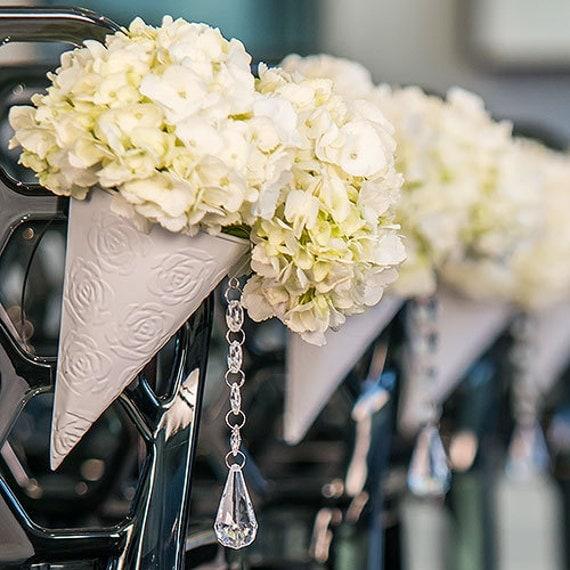 Wedding Aisle Flower Cones Pew Cones Wedding Decorations