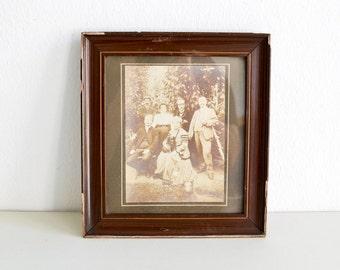 Sepia family portrait, vintage photo, portrait photograph, family photo