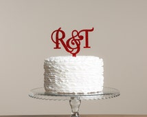 His and Hers , Mr and Mrs Couples Personalised Initial Wedding Cake Topper