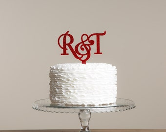 His and Hers Initial Wedding Cake Topper
