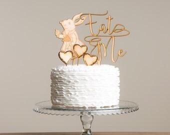 Alice In Wonderland Eat Me Cake Topper Set