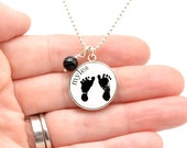 Baby Footprint Necklace | Mother's Necklace | Mother's Day | Baby Footprints | Footprint Jewelry | Baby Memorial Jewelry