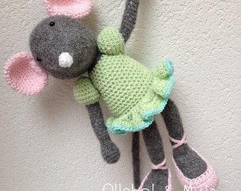 Crochet Mouse, Mouse, doll, crochet, handcrochet mouse, toy mouse, Angelina Ballerina Mouse