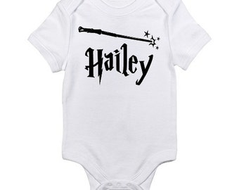 Personalized Baby Onesie / Harry Potter Inspired Personalized Bodysuit / Harry Potter Nurcery / Harry Potter Baby Shower Gift / Newborn Baby