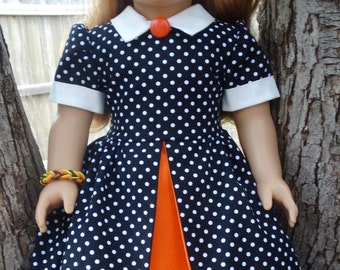 """RESERVED LISTING 18"""" Doll Clothes 1950's Style Dress for Fall / October / Halloween Fits American Girl Maryellen"""