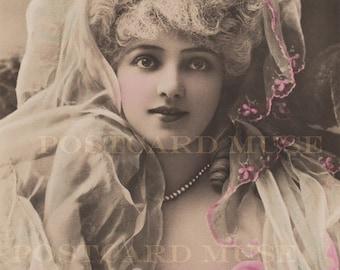 Actress Arlette Dorgere Vintage Postcard Image Digital Download For Personal Or Commercial Use