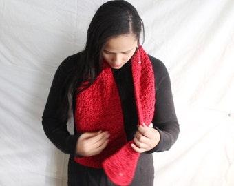 Crochet scarf, custom winter scarf, open end scarf, Knit scarf -