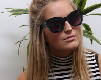 Vintage Style Black Modern Cat Eye Sunglasses